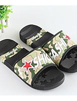 Men's Slippers & Flip-Flops Rubber Spring Gray Green Blue Flat