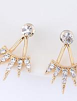 Women's Stud Earrings Rhinestone Euramerican Fashion Alloy Geometric Jewelry For Daily Casual 1 Pair