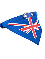 Dog Cat Bandanas British Collar England Flag Bowknot
