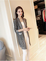 Women's Daily Casual Simple Sophisticated Regular Cardigan,Solid V Neck Long Sleeve Others Summer Medium Micro-elastic