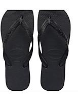 Masculino Chinelos e flip-flops Conforto Couro Ecológico Verão Casual Conforto Preto Rasteiro