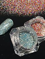 2bottles/set 0.2g/bottle Fashion DIY Starry Effect Gorgeous Nail Art Platinum Glitter Power Galaxy Shining Decoration BG14&20