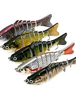 5 pcs Jerkbaits Fretin g/Once,10cm mm poucePêche en mer Pêche aux spinnerbaits Pêche de la perche Pêche au leurre Pêche générale Bateau
