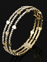Mulheres Bracelete Tênis Pulseiras Cristal Zircônia cúbica Moda Vintage Jóias de Luxo Zircão Chapeado Dourado Formato Circular Jóias Para