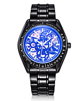 Men's Skeleton Watch Fashion Watch Mechanical Watch Automatic self-winding Water Resistant / Water Proof Noctilucent Alloy Band Black