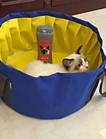 Foldable Cat Pool Bathing Bathtub for small dogs Solid Color Blue Grey 46x22cm