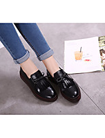 Women's Sandals Comfort Real Leather PU All Seasons Casual Comfort Black Flat
