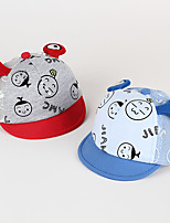 0-1years Baby's Smile Pattern Cap  & Soft Brim Cartoon Ears Breathable Mesh Hat