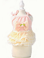 Dog Dress Dog Clothes Cute Casual/Daily Fashion Princess Beige Blushing Pink