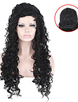 Capless Long Black Culry Sexy Beauty Heat Resistant Kinky Curly Wig for Afro Women
