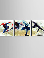 E-HOME Stretched Canvas Art The Heroes Of Heroes Decoration Painting Set Of 3