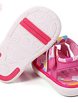 Girls' Flats First Walkers Synthetic Spring Fall Casual Walking First Walkers Magic Tape Low Heel Blue Fuchsia Beige Flat
