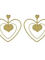Серьги-слезки Искусственный жемчуг Базовый дизайн Геометрический Симпатичные Стиль Сплав В форме сердца Геометрической формы Бижутерия Для