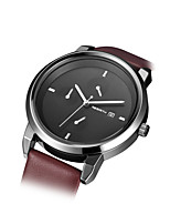 REBIRTH Women's Fashion Watch Chinese Quartz Leather Band Brown