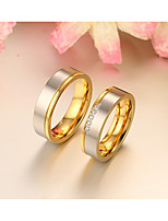 Couple Rings Ring Band Rings AAA Cubic Zirconia Fashion Simple Style Elegant Rose Gold Cubic Zirconia Round Jewelry ForWedding Party