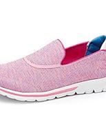 Feminino Mocassins e Slip-Ons Tecido Primavera Outono Rasteiro Branco Rosa claro Menos de 2,5cm