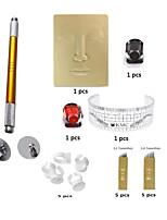 Schminkkasten Augenbrauen Lippen Eyeliner/Lidstrich Korpus Tattoo-Maschinen 18 Round Shader 14 Flach