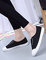 Women's Sneakers Canvas Spring Summer Flat Heel White Black Yellow Green 1in-1 3/4in