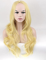 26inch Golden Synthetic Hair Long Wavy Wigs High Temperature Fiber Hair For Women Wig