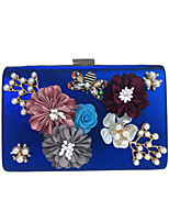 L.WEST Woman Fashion Luxury High-grade Three-dimensional Flowers Diamond Evening Bag