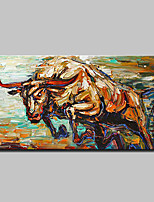 Hand Painted Magnificent Bull Animal Oil Painting On Canvas Modern Abstract Wall Art Picture For Home Decoration Ready To Hang