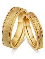 Paar Eheringe Bandringe Ring Vintage Simple Style Klassisch Titanstahl Runde Form Schmuck Für Hochzeit Party Verlobung Alltag