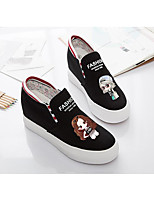 Women's Sneakers Comfort Canvas Spring Casual Black White Flat