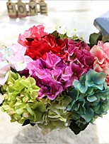 Mini Silk Hydrangeas Tabletop Flower Artificial Flowers 14inch Length