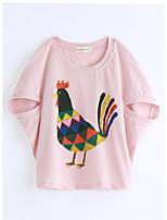 T-Shirt Tiermuster Druck Baumwolle Sommer Kurzarm