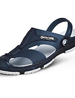 Men's Sandals Comfort PVC Spring Casual Black Gray Navy Blue Flat