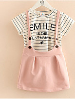 Baby Braces Skirt Suits The New Summer 2017 Two-Piece Girls Children's Wear Children's Clothing Sets