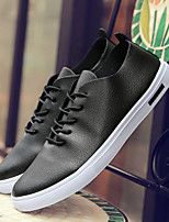 Da uomo Sneakers Comoda Di pelle Primavera Autunno Athleisure Comoda Bianco Nero Arancione Piatto