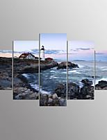 Impression sur ToileCinq Panneaux Format Horizontal Imprimé Décoration murale For Décoration d'intérieur