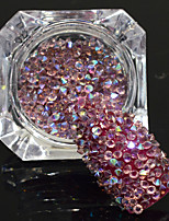 600pcs/bottle New Fashion Sweet Style Shining Double Head Nail Art Light Amethyst AB Rhinestone Glitter Crystal Rhinestone DIY Beauty Decoration