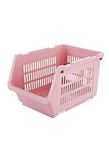 Kitchen Supplies Vegetables Storage Basket Plastic Drainage Bowl Rack Tray Shelf