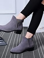 Для женщин Обувь на каблуках Удобная обувь Полиуретан Весна Повседневные Удобная обувь Черный Темно-серый 4,5 - 7 см