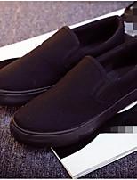 Для женщин Мокасины и Свитер Удобная обувь Полотно Весна Повседневный Черный На плоской подошве