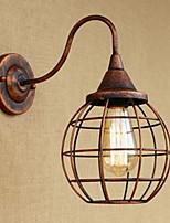 Iron art retro rust couleur étude lliving room bedside american wall lamp