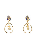 Fashion Women Rhinestone Set Pineapple Drop Earrings