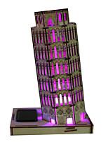 Пазлы 3D пазлы Строительные блоки Игрушки своими руками Знаменитое здание Дерево Модели и конструкторы