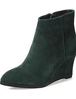 Women's Boots Comfort Suede Spring Casual Comfort Green Black Flat