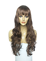 Capless Chestnut Brown Wig Long Deep Wavy Wig Synthetic Wig Costume Wig Style