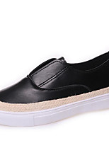 Women's Sneakers Comfort PU Spring Casual Silver Black White Flat