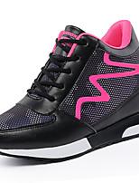 Women's Loafers & Slip-Ons PU Spring Summer Low Heel White Black Ruby Under 1in