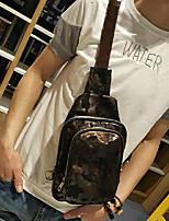 Men Sling Shoulder Bags PU All Seasons Casual Messenger Metallic Zipper Rainbow