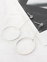 Women's Drop Earrings Zircon Euramerican Fashion Simple Style Cooper Circle Jewelry For Daily Casual 1 Pair