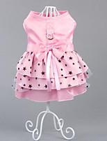 Chien Robe Vêtements pour Chien Soirée Décontracté / Quotidien Anniversaire Vacances Mode Mariage Nouvel An Halloween Noël Etoiles Rose