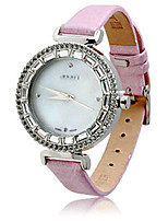 Women's Fashion Watch Bracelet Watch Japanese Quartz Water Resistant / Water Proof Leather Band Sparkle Black White Gold