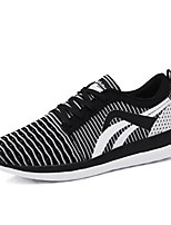 Men's Sneakers Light Soles Tulle Spring Summer Casual Outdoor Light Soles Flat Heel Black/White Green Gray Running Shoes