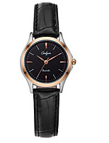 Women's Fashion Watch Quartz Water Resistant / Water Proof Leather Band Casual Black